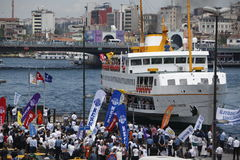 Strike in Istanbul,Turkey Stock Image