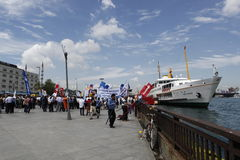 Strike in Istanbul,Turkey Stock Image