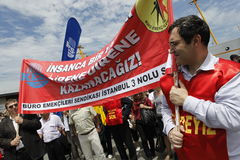 Strike in Istanbul,Turkey Royalty Free Stock Images