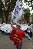 Strike in Istanbul,Turkey Royalty Free Stock Photos