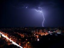 Strike lightning Royalty Free Stock Photos