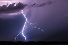 Strike of Lightning Stock Photography