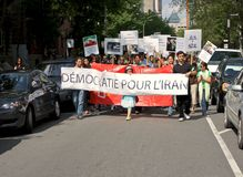Strike in Montreal Stock Photography