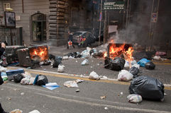 Strike in naples Stock Photography