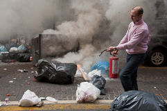 Strike in naples Stock Images