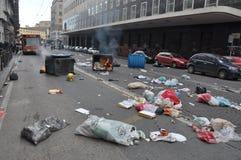 Strike in naples Stock Photo