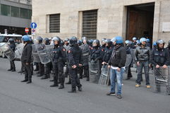 Strike in naples Royalty Free Stock Photography