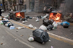 Strike in naples Royalty Free Stock Photos