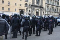 Strike in naples Stock Image