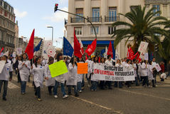 Strike of nurses in Portugal Royalty Free Stock Photography