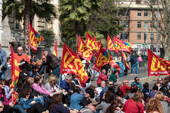 Strike in Rome for better Education Royalty Free Stock Photos