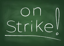 On strike Royalty Free Stock Photography