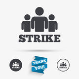 Strike sign icon. Group of people symbol. Stock Image