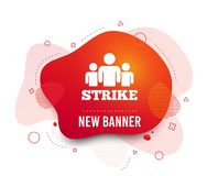 Strike sign icon. Group of people symbol. Vector stock illustration