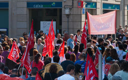 Strike in Spain Royalty Free Stock Photos