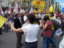 STRIKE IN TURKEY Royalty Free Stock Photos
