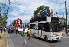 STRIKE IN TURKEY Royalty Free Stock Photos
