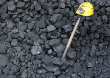 Strike or work stoppage miner. The strike work stoppage miner in a mine Stock Photo