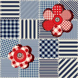 Striked patchwork pattern Stock Photos