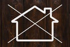 Strikethrough纸房子 抽象概念性图象 库存图片