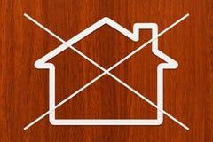 Strikethrough paper house. Abstract conceptual image Royalty Free Stock Photos
