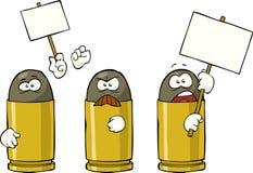 Striking ammunition. On white background vector stock illustration