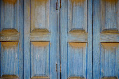Striking blue wooden shutters Royalty Free Stock Image