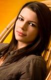 Striking brunette beauty. Stock Photos