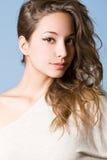 Striking brunette beauty. Stock Photo