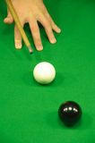 Striking the cue ball Stock Photography