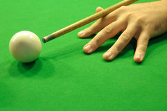 Striking the cue ball Royalty Free Stock Photos