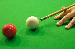 Striking the cue ball Royalty Free Stock Image