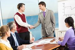 Striking a deal Royalty Free Stock Images