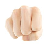 Striking fist Stock Image