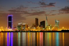 Striking illumination & reflection of Bahrain higr Stock Images