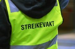 Striking Norwegian train driver picketing Stock Images