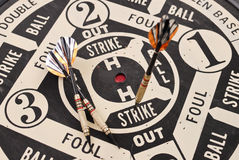 Striking Out. On A Baseball Dart Game Stock Images