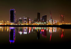 Striking reflection of Bahrain skyline Stock Image