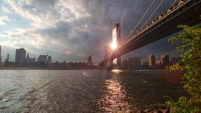 New York City sunset royalty free stock photography