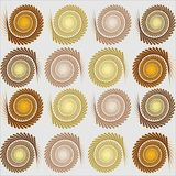 A striking repeating pattern design on a pale background Stock Image