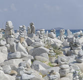 Striking statues in perfect balance Stock Image