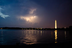 Striking through. A storm at tidal basin, washington DC Stock Photography