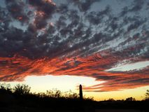 Striking Sunset Stock Photo