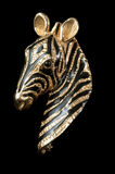 Striking vintage zebra brooch Royalty Free Stock Photo