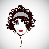 Striking Woman Beauty Icon Royalty Free Stock Photography