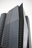 Strikingly angular highrise building in downtown vancouver Stock Images