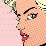 Strikt blond kvinna Royaltyfria Bilder