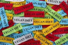 Strikt vegetarian bantar begrepp Arkivbild