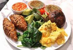 strikt vegetarianfrukost Arkivfoto
