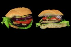 Strikt vegetarianhamburgare Arkivbild